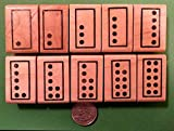 Quality Custom Rubber Stamps Singapore Math Number Tiles, Teacher's Set of 10 Wood Mounted Rubber Stamps Carved Wooden Stamps