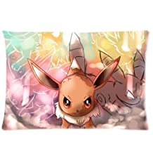 Pokemon Pocket Monster Lovely Eevee Custom Made Personalized Decorative Pillowcase Pillow Sham Queen Size Pillow Cushion Case Cover Two Sides Printed 20*30 inches Inches
