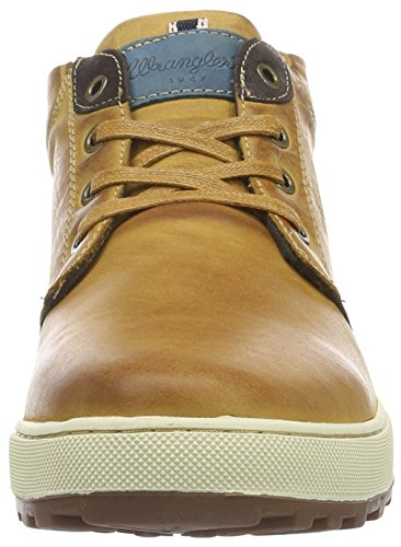 Wrangler Bruce Desert, Men's Hi-Top Trainers Brown (64 Cognac)