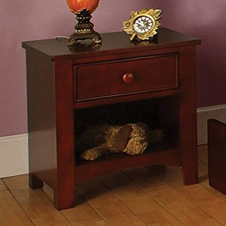 Solid Wood Youth Cherry Finish Night Stand