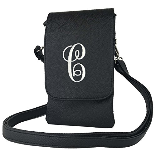 Cross C Charm14 Black letter Cross all Phone Phones Fits Womens Bag Cell Hudson body body handbags qr0wqZ