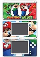 Mario and Luigi Bros Super Hero Golf Kart Smash Video Game Vinyl Decal Skin Sticker Cover for Nintendo DS Lite System