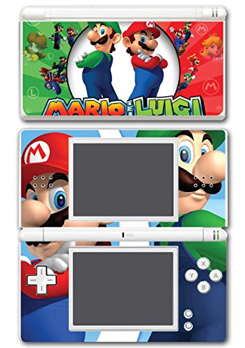 Mario and Luigi Bros Super Hero Golf Kart Smash Video Game Vinyl Decal Skin Sticker Cover for Nintendo DS Lite (Nintendo Ds Skin)