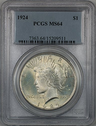1924 Peace Silver Dollar Coin $1 PCGS MS-64 Better Quality (2F)