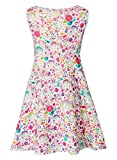 Leapparel Girls Floral Sleeveless Summer Causal Dress Round Neck Party Sweet Style