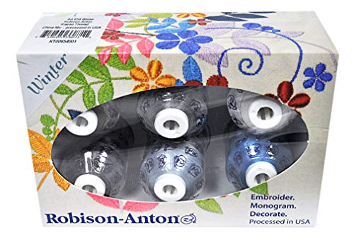 Robison-Anton Rayon Mini King 6 Spool Gift Pack - Winter