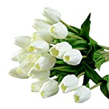Best Flowers - Soledi Single Stem 10 heads Artificial Tulips Real Review