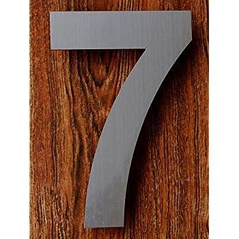 Amazoncom Modern House Number Aluminum Modern Font Number Seven