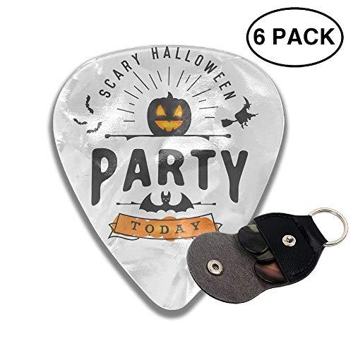 morjar Classic Guitar Pick (6 Packs) Scary Halloween Celluloid Guitar Picks Plectrums for Guitar Bass ()