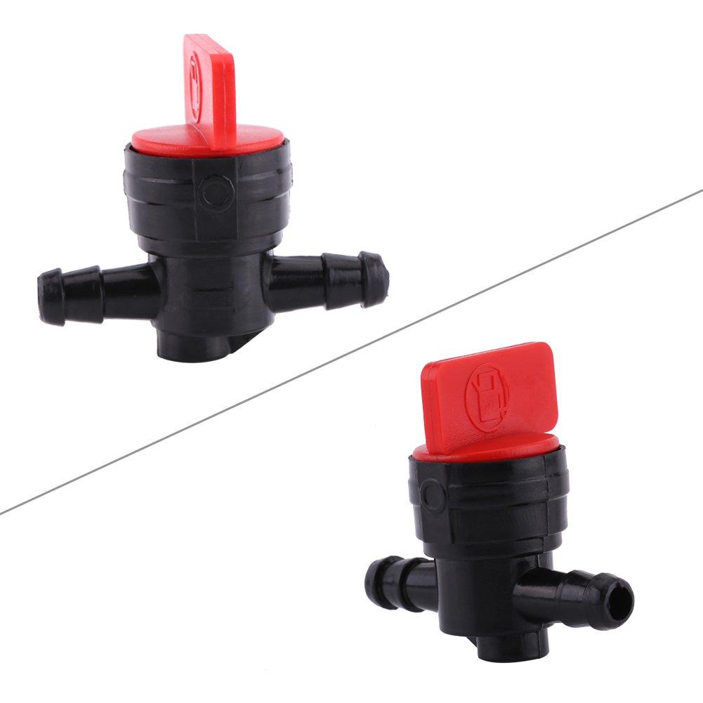 rubinetto universale in plastica Spegnere 1//4 Interruttore del carburante di accensione Valvola di regolazione del carburante del motociclo Rubinetto del serbatoio del carburante