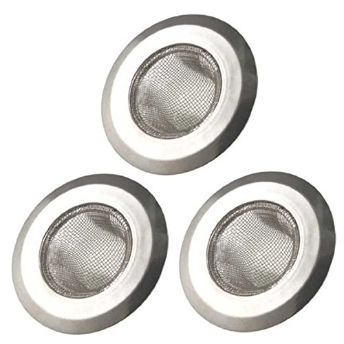 - Arology 3 PCS Kitchen Sink Strainer - Stainless Steel Mesh, Large Wide Rim 4.5