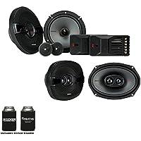 Kicker Speaker Bundle - A pair of Kicker KS 6.5 components & a pair of 6x9 KS Triaxial Speakers, KSS6504 & KSC69304