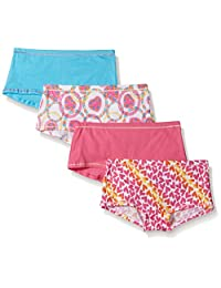 Hanes Girls Big Girls 4-Pack Cotton Stretch Boy Short Panties