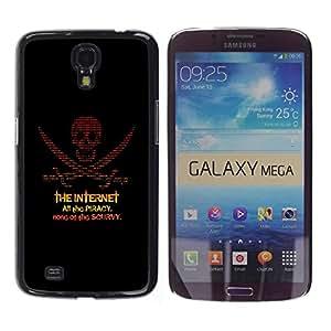 Estuche Cubierta Shell Smartphone estuche protector duro para el teléfono móvil Caso Samsung Galaxy Mega 6.3 I9200 SGH-i527 / CECELL Phone case / / The Internet Piracy /