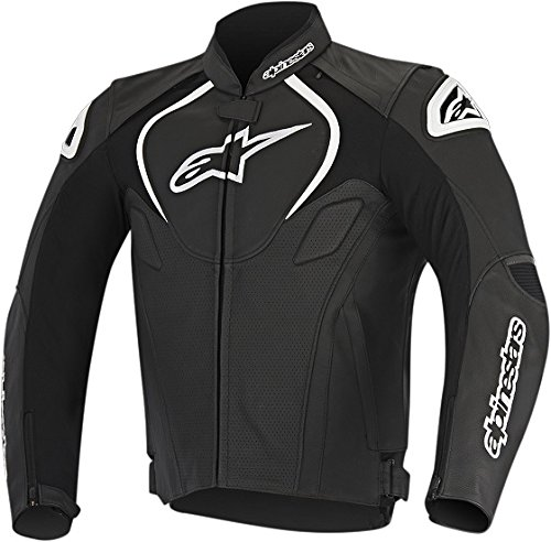Alpinestars Jaws Perforated Leather Jacket, Distinct Name: Black, Gender: Mens/Unisex, Primary Color: Black, Size: 46, Apparel Material: Leather, EURO Size: 56