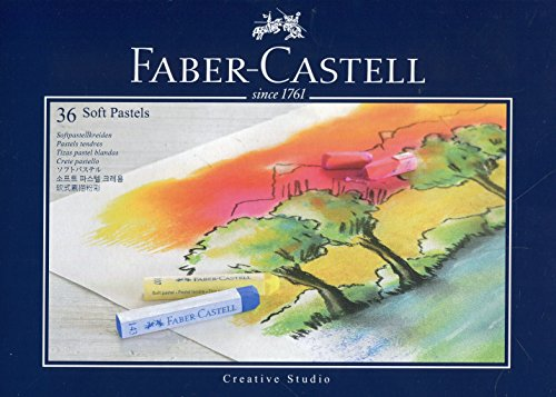Faber-Castell Studio Quality 128336 Soft Pastel Crayons Set of 36 in Case by Faber-Castell
