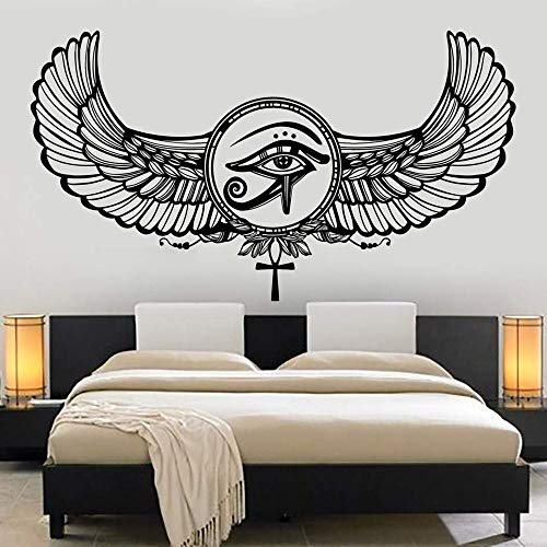 opdean Wall Decal Sticker Art Mural Home Decor Eye of Horus Ra Egyptian God Protective Amulet Stickers Living Room Home Decor