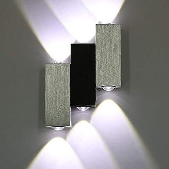 Lightess Applique Murale 6 LEDs Intérieur 6W Lampe Décorative Moderne  Créatif Originale Éclairage Design Lumiaire Aluminium