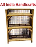 All INDIA HANDICRAFTS Bamboo Books and Shoes Rack (Small, Brown)