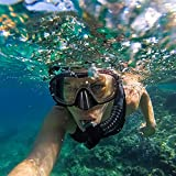 KUYOU Snorkel Set Adults,Dry Snorkeling Set Men