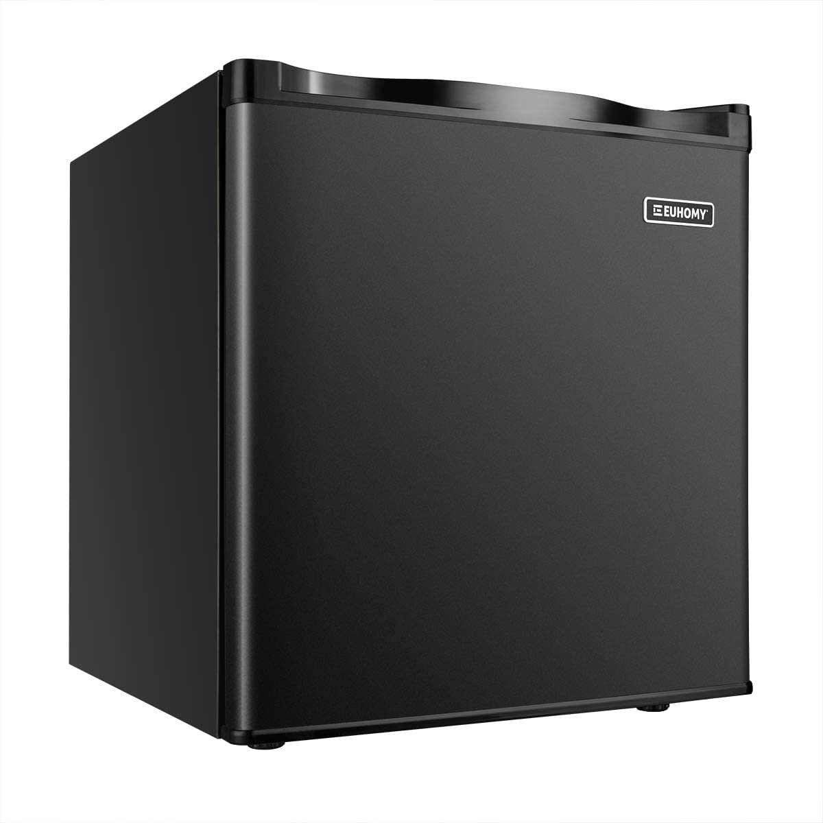 Euhomy Mini Freezer Countertop, Energy Star 1.1 Cubic Feet,Compact Single Door Upright Freezer with Reversible Adjustable Stainless Steel Door for Home/Dorms/Apartment/Office(Black)