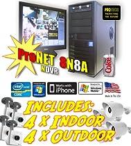 Complete Kit Package 4 Outdoor IP Cameras & 4 Indoor IP Cameras & ProN