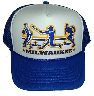 Milwaukee Baseball Mesh Snapback Trucker Hat Cap