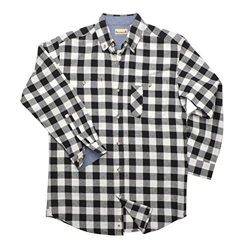 Backpacker Yarn Dyed Flannel Shirt, Black/White, 2X Large