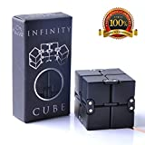 #1: Infinity Cube Fidget Toy, Luxury EDC Fidgeting Game for Kids and Adults, Cool Mini Gadget Spinner Best for Stress and Anxiety Relief and Kill Time, Unique Idea that is Light on the Fingers and Hands