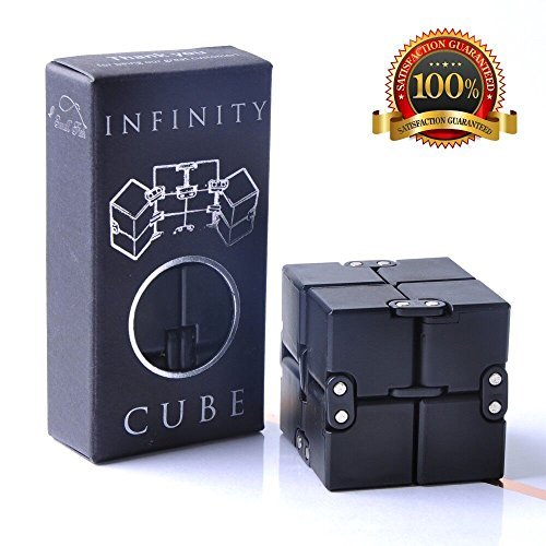 Infinity Cube Fidget Toy, Luxury EDC Fidgeting Game for Kids and Adults, Cool Mini Gadget Spinner Best for Stress and Anxiety Relief and Kill Time, Unique Idea that is Light on the Fingers and Hands (Tactile Cube)