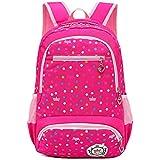 BAACD、スクールバッグバックパック女の子子供防水軽量7-10歳大容量2-5グレード小学生キャンパス旅行バッグバックパック