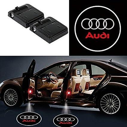 2 luces LED inalámbricas para puerta de coche con emblemas de ...