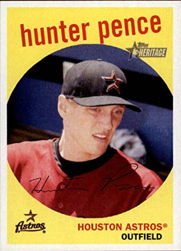 (2008 Topps Heritage #148 Hunter Pence Astros )
