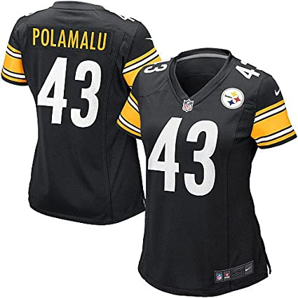 Nike Troy Polamalu Pittsburgh Steelers Youth Game Jersey - Black  Misc.  2bf8a536f