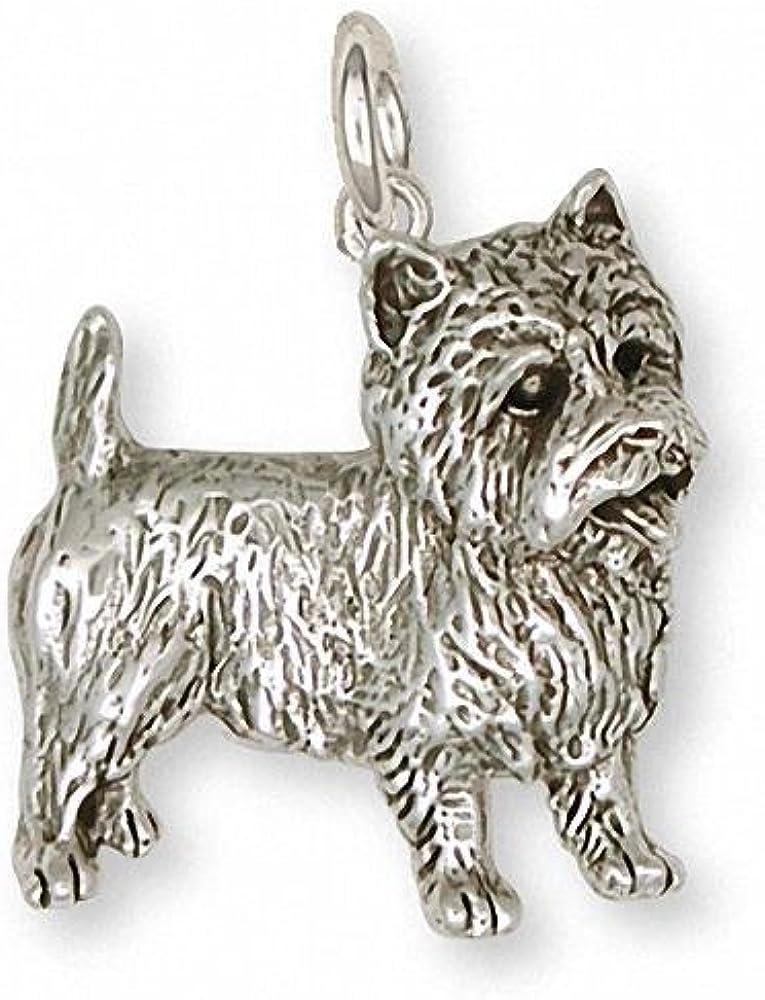 or Bracelet Yellow, Rose, White Cairn Terrier Charm or Pendant \u2013 14k Gold Cairn Terrier Charm for Necklace Bangle