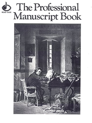 12 Stave Professional Manuscript Book: Off white paper, black staves. Includes musical terms, chord chart, & instrument range chart., Saddle Stitched Book (Read-Ease)