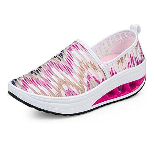 con tamaño Gimnasia 04 para Plataforma Altura Mujeres Aumentar cuñas 39 de la Zapatos Parade Zapatillas Suaves Malla 05 Transpirables Zapatos Color Casuales de Suaves para wX6SFfx