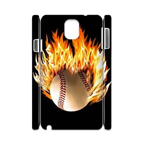 DIY 3D Case Cover for Samsung Galaxy Note 3 N9000 with Customized fire baseball