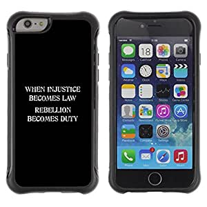 LASTONE PHONE CASE / Suave Silicona Caso Carcasa de Caucho Funda para Apple Iphone 6 PLUS 5.5 / injustice law freedom rebellion duty
