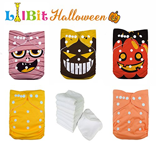 LilBit Halloween Reusable Adjustable Baby Cloth Diaper(Halloween 02) ()