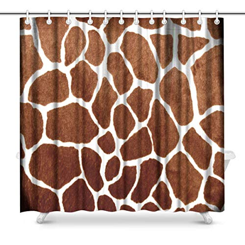 Big buy store Shower Curtain Giraffe Print Prints for s,Waterproof Fabric Bathroom Decor Set with Hooks(70