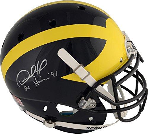 "Desmond Howard Michigan Wolverines Autographed Schutt Pro-Line Helmet with""Heisman 91"" Inscription - Fanatics Authentic Certified"