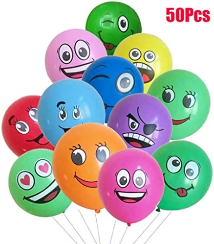 [해외]50Pcs Emoji Latex Balloons Party Balloons Wedding Decorations Spotted Balloons Set / 50Pcs Emoji Latex Balloons Party Balloons Wedding Decorations Spotted Balloons Set
