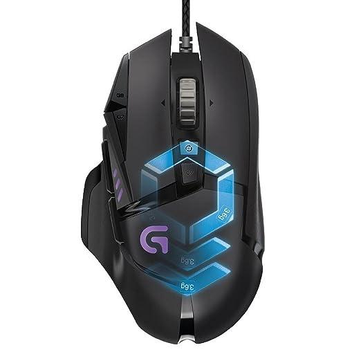 433 opinioni per Logitech G502 Mouse da Gioco Proteus Spectrum con Regolazione RGB e 11 Pulsanti
