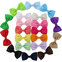 QingHan 20 Pcs Baby Girl Boutique Grosgrain Ribbon Hair Bows Alligator Clips ...