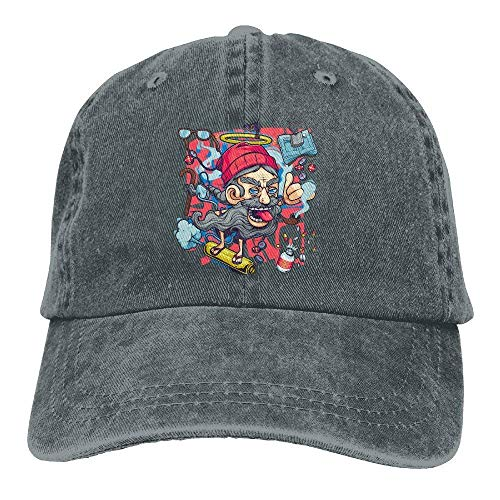 Hat Skate Art Men Denim Skull Cap Cowboy Cowgirl Sport Hats for Men Women