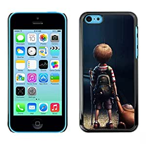 X-ray Impreso colorido protector duro espalda Funda piel de Shell para Apple iPhone 5C - Mom Mother Cute Kid Son Night