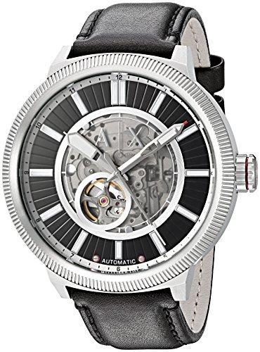 Armani Exchange Men's AX1418 Black  Leather Watch