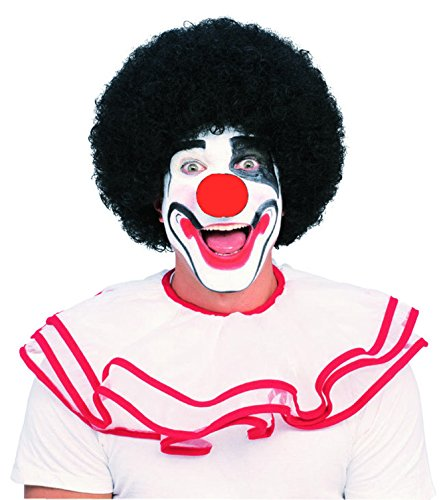 Rubie's Costume Clown Wig and Nose Accessory Set (Black)]()