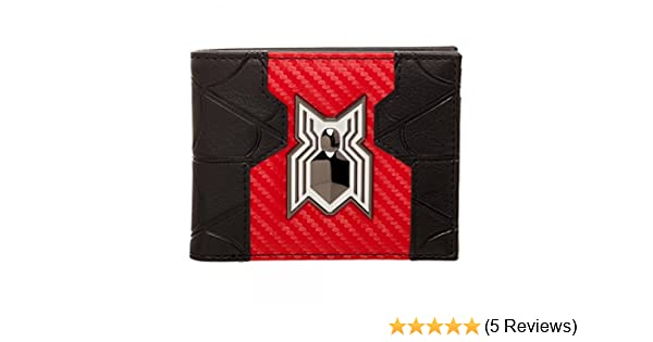 Spider-Man Homecoming Logo Bi-Fold Wallet, Black, One Size at Amazon Mens Clothing store: